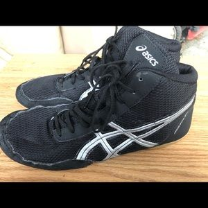 Asics Matflex Black Silver Wrestling Shoes Size 8
